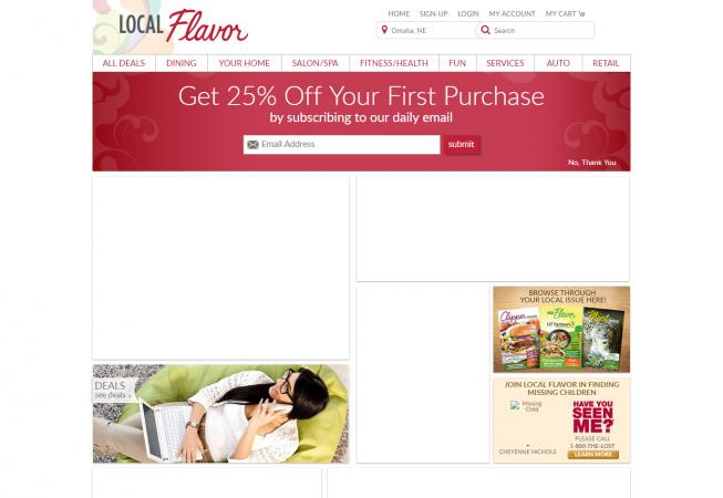 Screenshot of LocalFlavor website