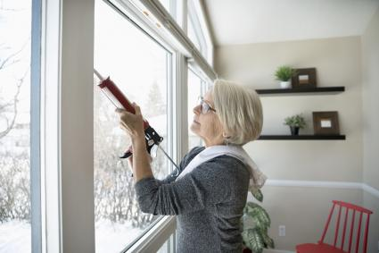 caulking windows for winter