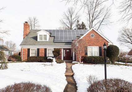 Solar panels on roof in Delaware