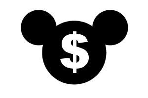 mouse ears with dollar sign