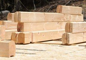 Lumber from a log home kit