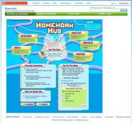Screenshot of the online Homework Hub