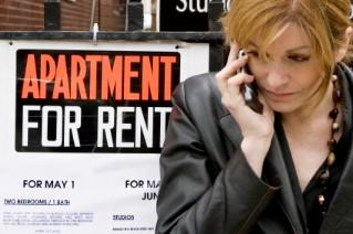 Woman calling about apartment for rent
