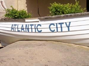 Atlantic City written on a boat