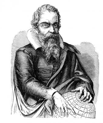 Galileo from Victorian book dated 1877