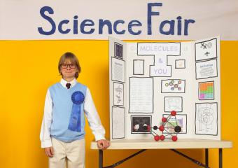 Boy with Science Fair Project