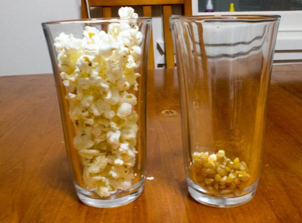 Popcorn matter experiment
