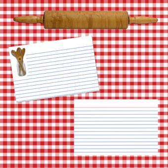 Recipe scrapbook layout; copyright Denise Kappa at Dreamstime.com
