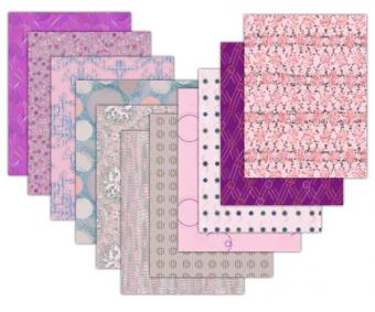 pink printable scrapbook paper