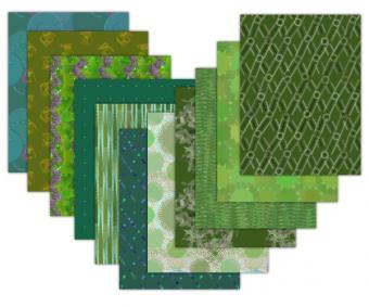 green printable scrapbook paper