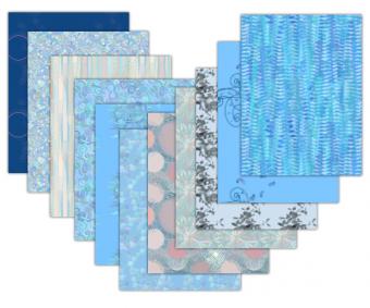blue printable scrapbook paper