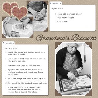 biscuits recipe scrapbook page