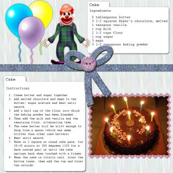 birthday scrapbook page