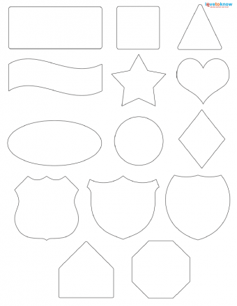 basic shapes for scrapbooking