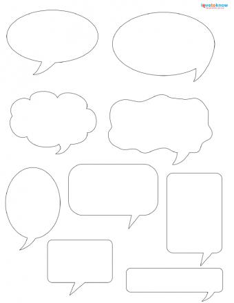 talk bubble scrapbook patterns