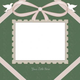 single photo wedding scrapbook template