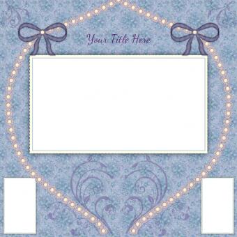 Wedding scrapbook layout template