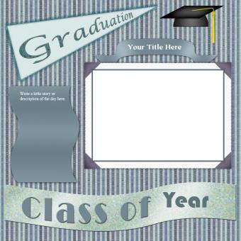 Scrapbook layout for graduation