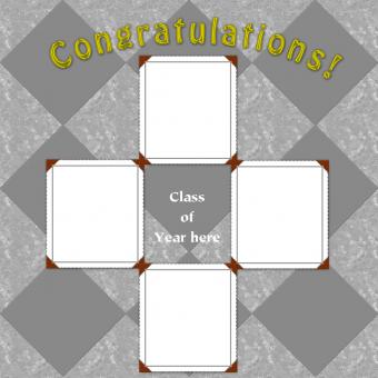 congratulations graduation scrapbook layout