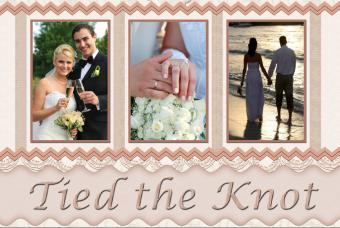 Tied the knot scrapbook layout