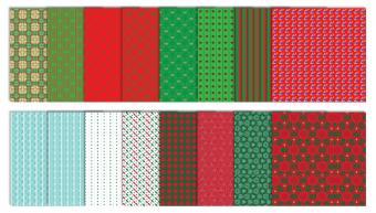 Traditional Christmas Scrapbook Patterns - Set #1