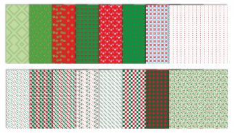 Neutral Christmas Scrapbook Patterns