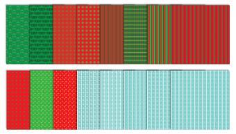 Winter Wonderland Christmas Scrapbook Patterns