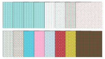 Modern Christmas Scrapbook Patterns