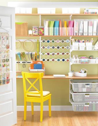 Sycamore & White elfa Craft Closet
