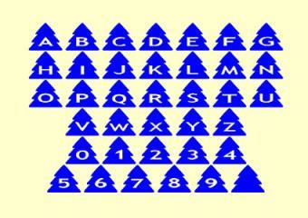 AlphaShapes xmas tree font