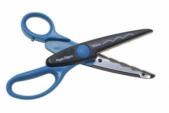wavy decorative scissors