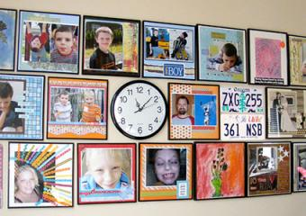 Scrapbook pages wall art by Nicole Maki