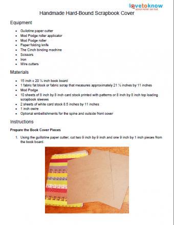 homemade scrapbook