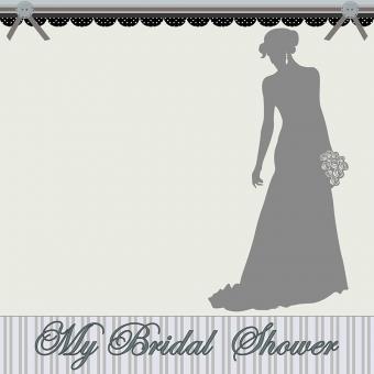 bridal shower mini album cover