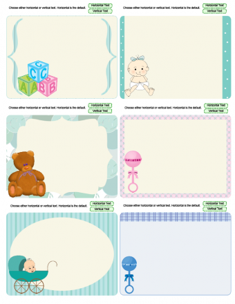 baby journaling cards