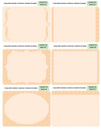peach journaling cards