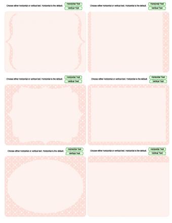 pink journaling cards