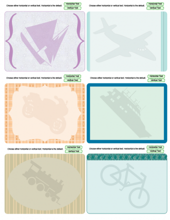 travel theme journaling cards