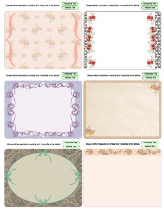 wedding theme journal cards