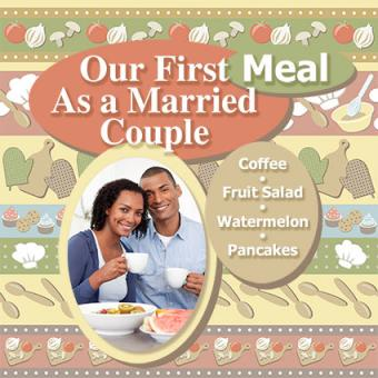 First meal as married couple scrapbook page