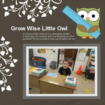 Owl Themed Scrapbook Layouts and Sayings