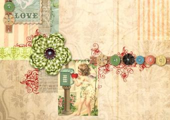 Sew on scrapbook buttons