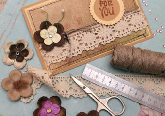 Adding lace to your scrapbook page