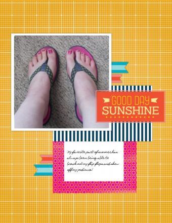 Shoe themed scrapbook layouts