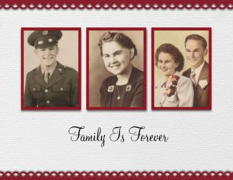 father scrapbook page - heritage
