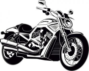 Motorcycle Stickers for Scrapbooking