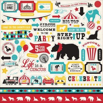 Echo Park Circus Party Elements