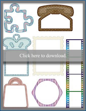 scrapbook printable frames
