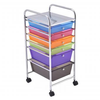 Rolling 6 drawer storage cart