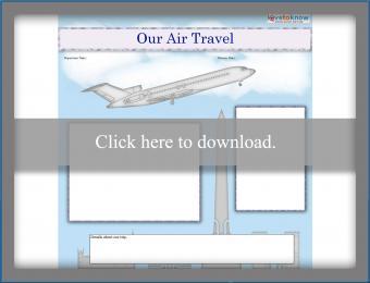 Air travel scrapbook template printable pdf